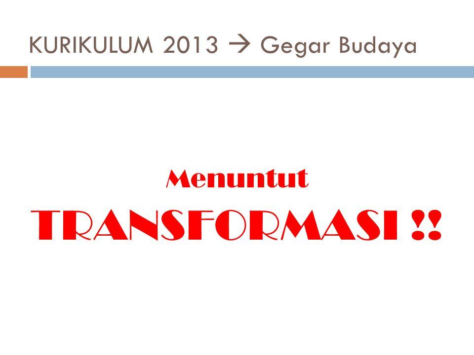KURIKULUM 2013  Gegar Budaya