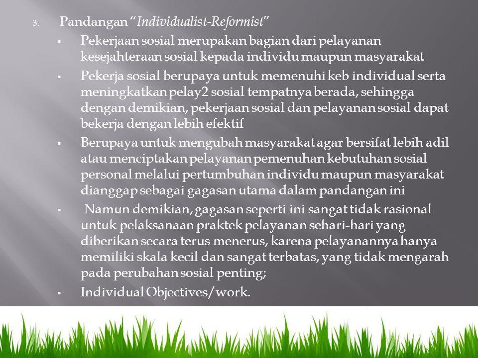Pandangan Individualist-Reformist