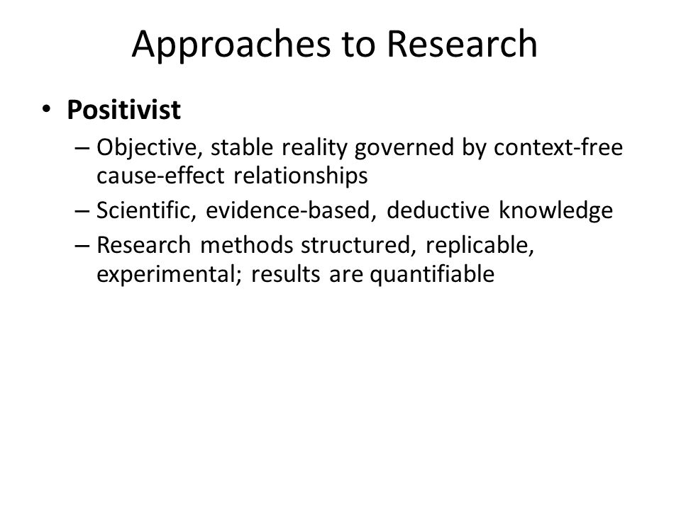 Approaches to Research