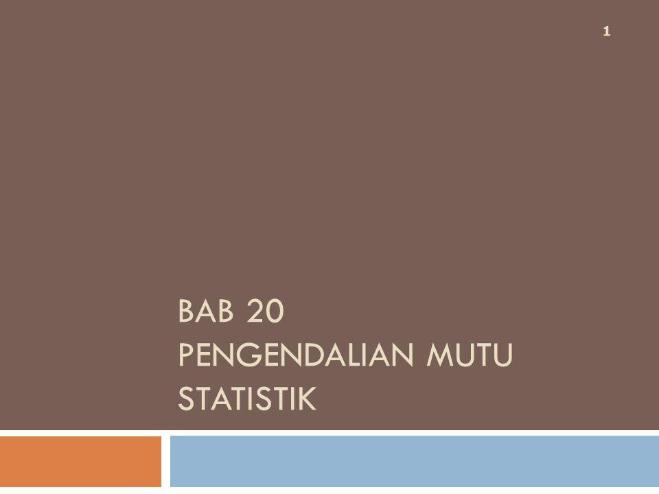 BAB 20 PENGENDALIAN MUTU STATISTIK