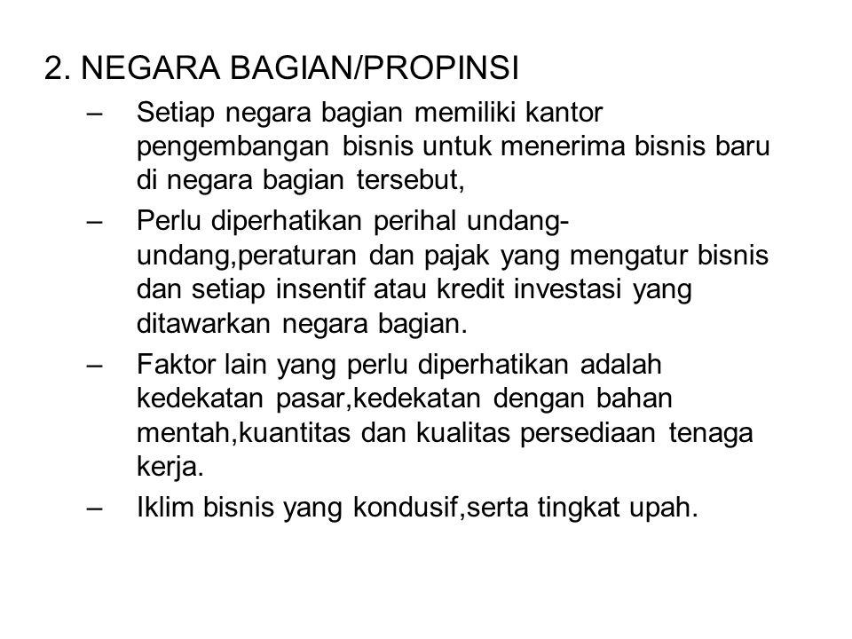 2. NEGARA BAGIAN/PROPINSI