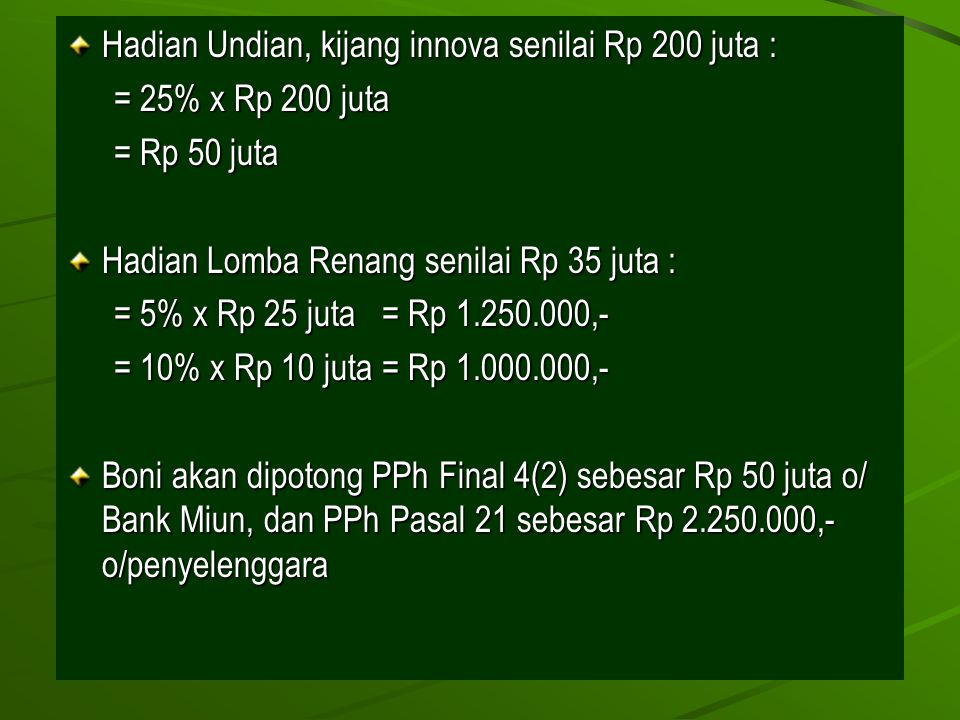 Hadian Undian, kijang innova senilai Rp 200 juta :