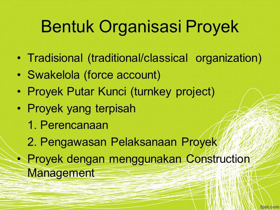 Bentuk Organisasi Proyek