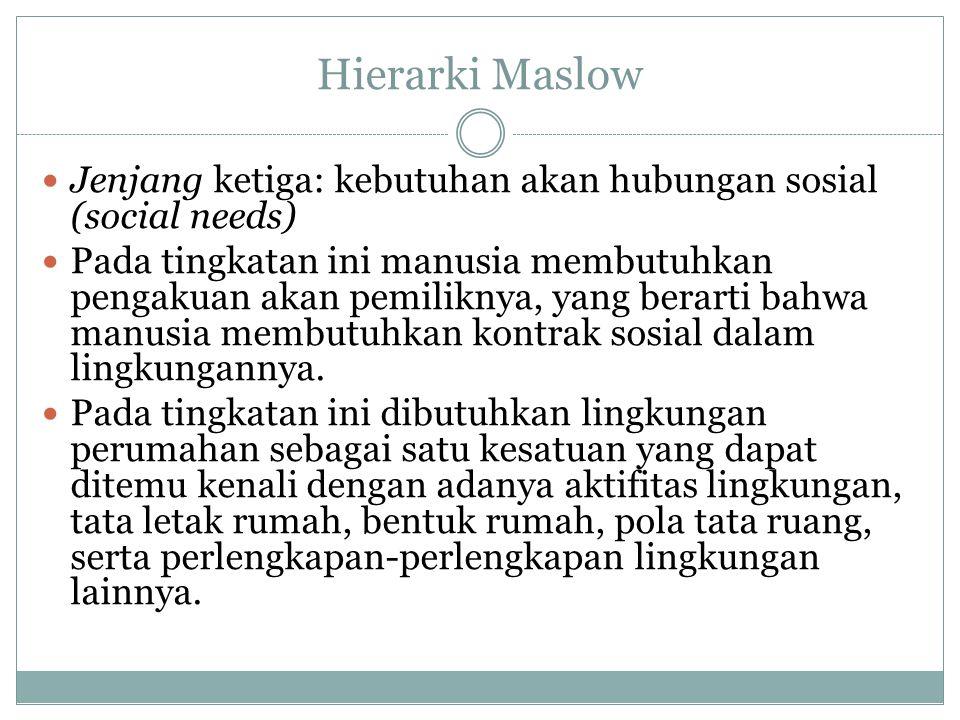 Hierarki Maslow Jenjang ketiga: kebutuhan akan hubungan sosial (social needs)