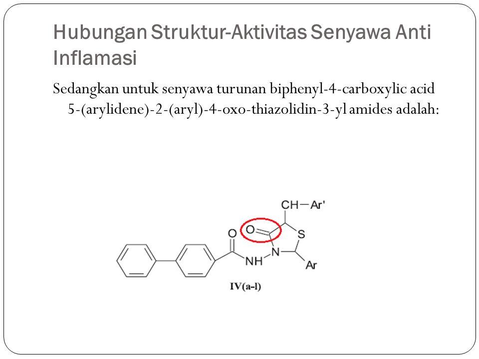 Hubungan Struktur-Aktivitas Senyawa Anti Inflamasi