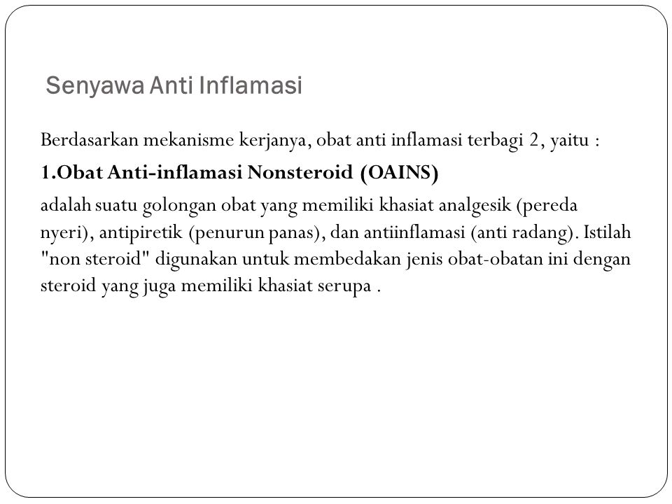 Senyawa Anti Inflamasi