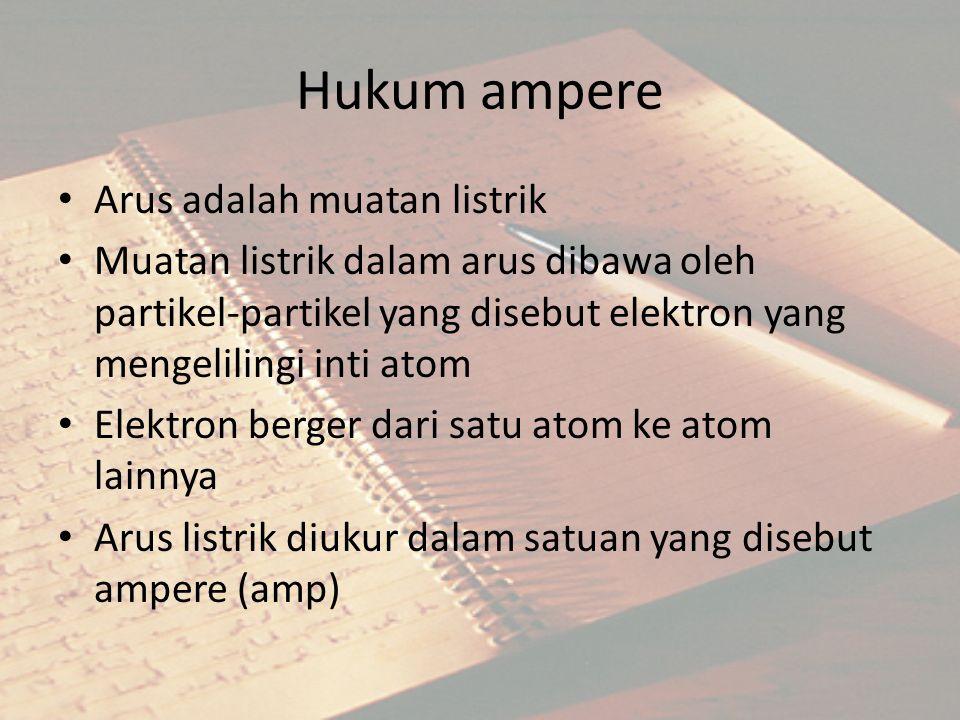 Hukum ampere Arus adalah muatan listrik