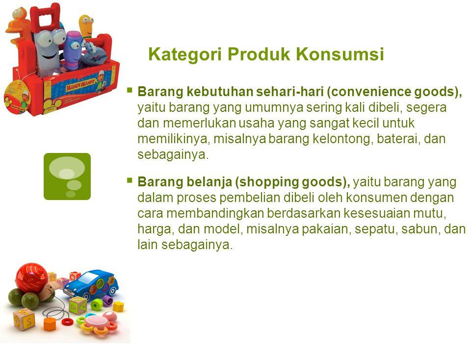 Kategori Produk Konsumsi