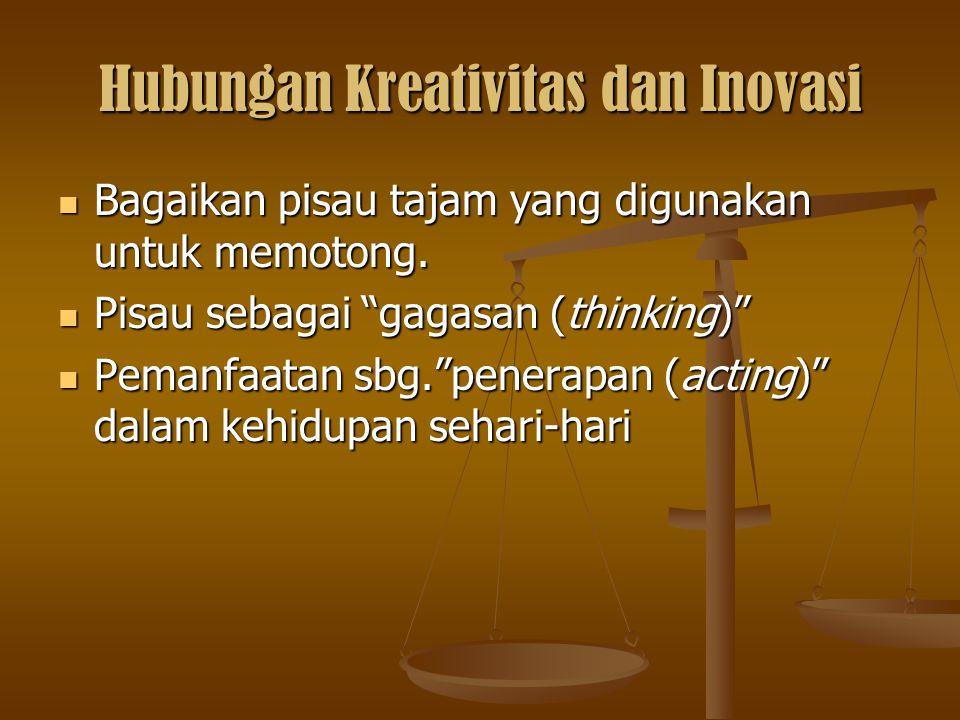 Hubungan Kreativitas dan Inovasi