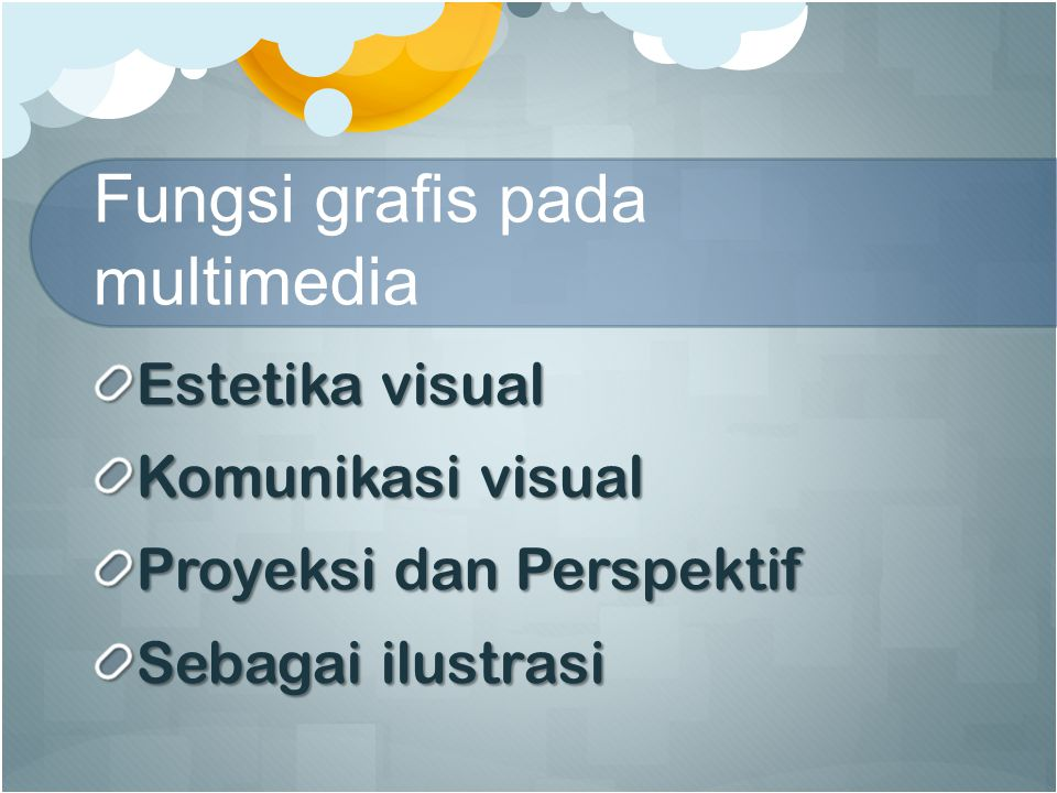Fungsi grafis pada multimedia