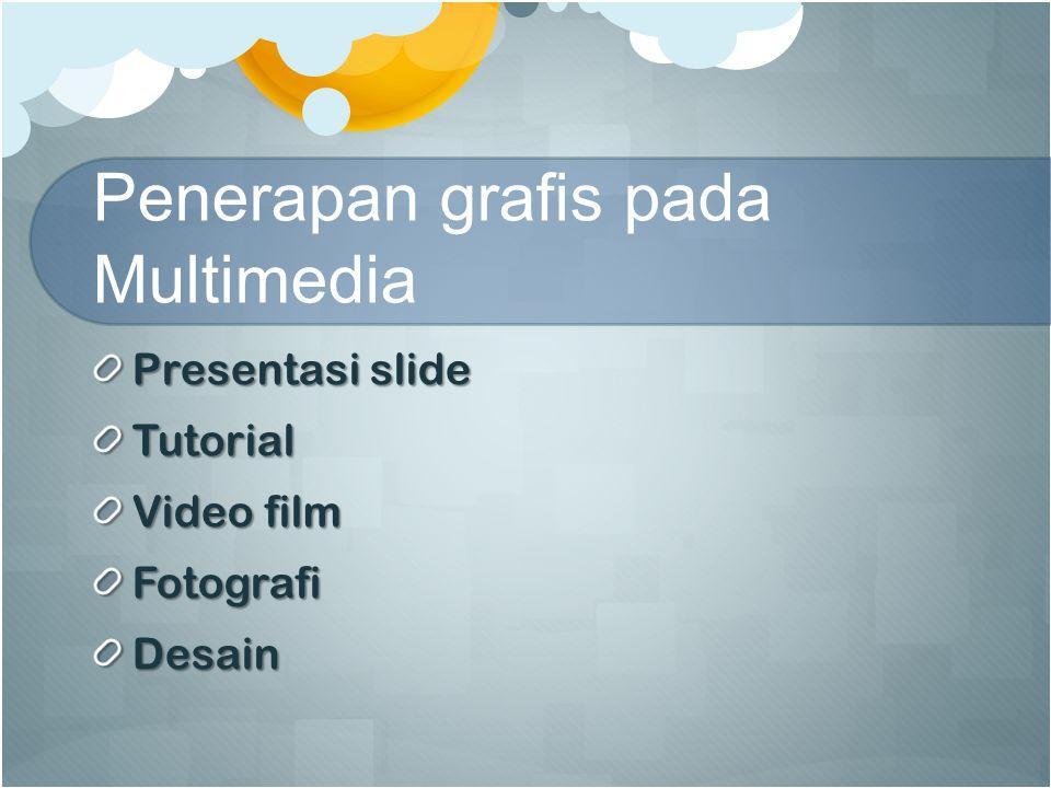 Penerapan grafis pada Multimedia