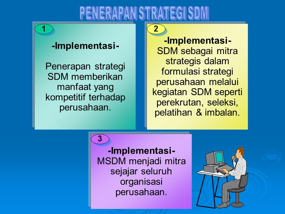 PENERAPAN STRATEGI SDM