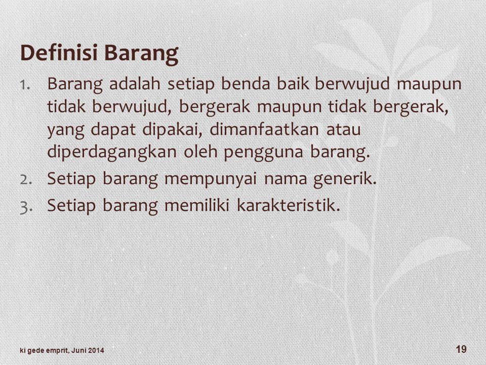 Definisi Barang