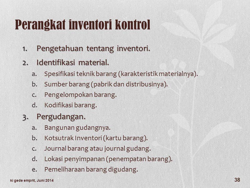 Perangkat inventori kontrol