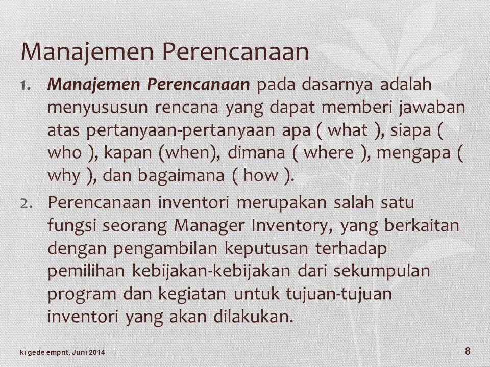 Manajemen Perencanaan