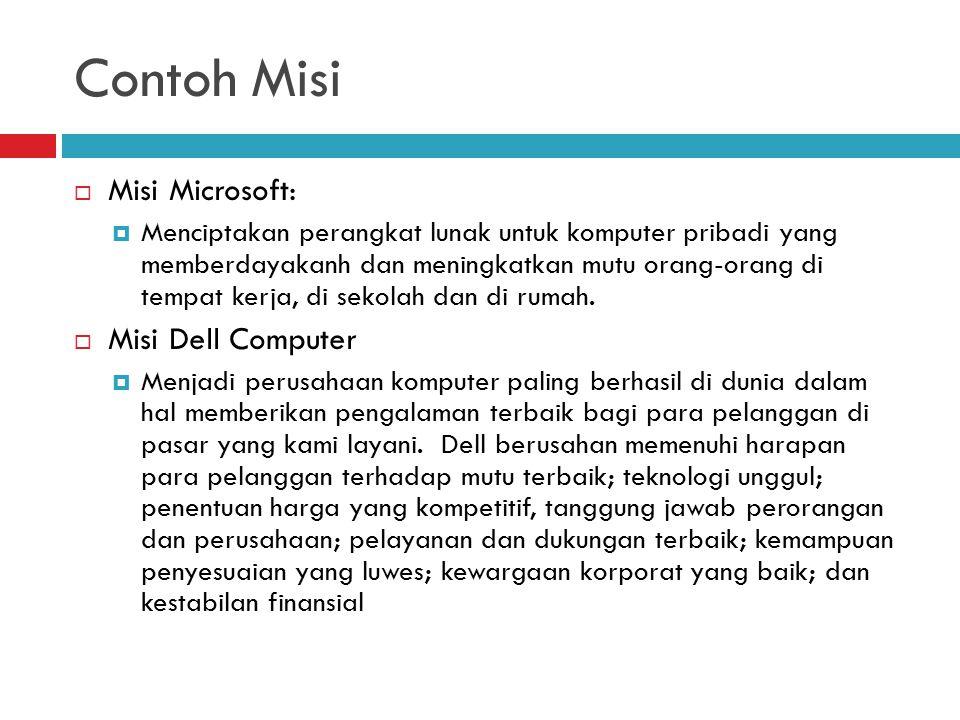 Contoh Misi Misi Microsoft: Misi Dell Computer
