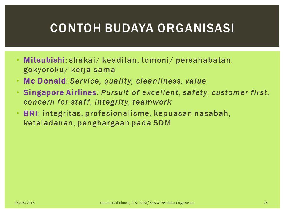 Contoh budaya organisasi