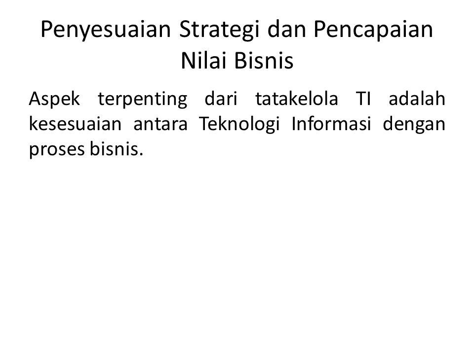 Penyesuaian Strategi dan Pencapaian Nilai Bisnis