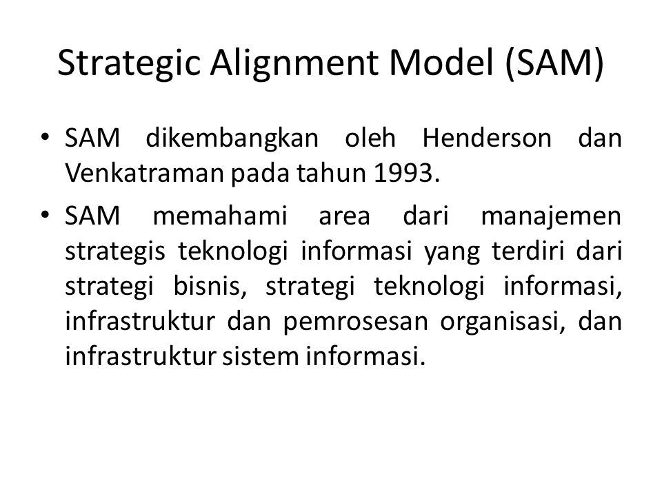 Strategic Alignment Model (SAM)