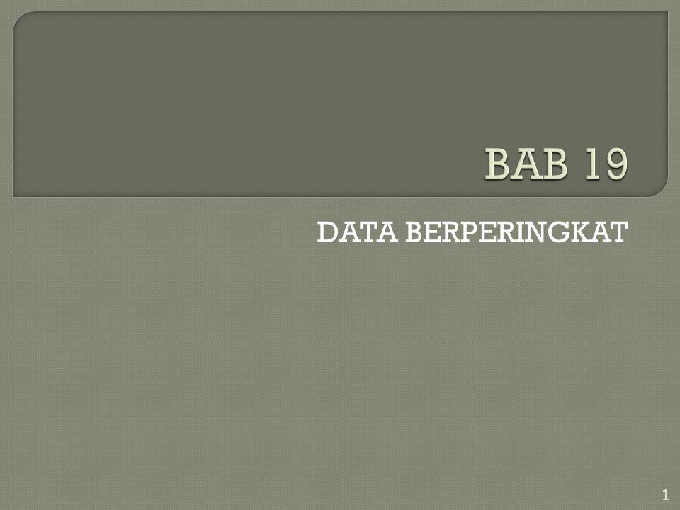 Pengantar Statistika Bab 1 DATA BERPERINGKAT