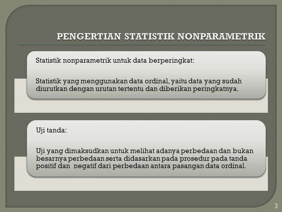 PENGERTIAN STATISTIK NONPARAMETRIK