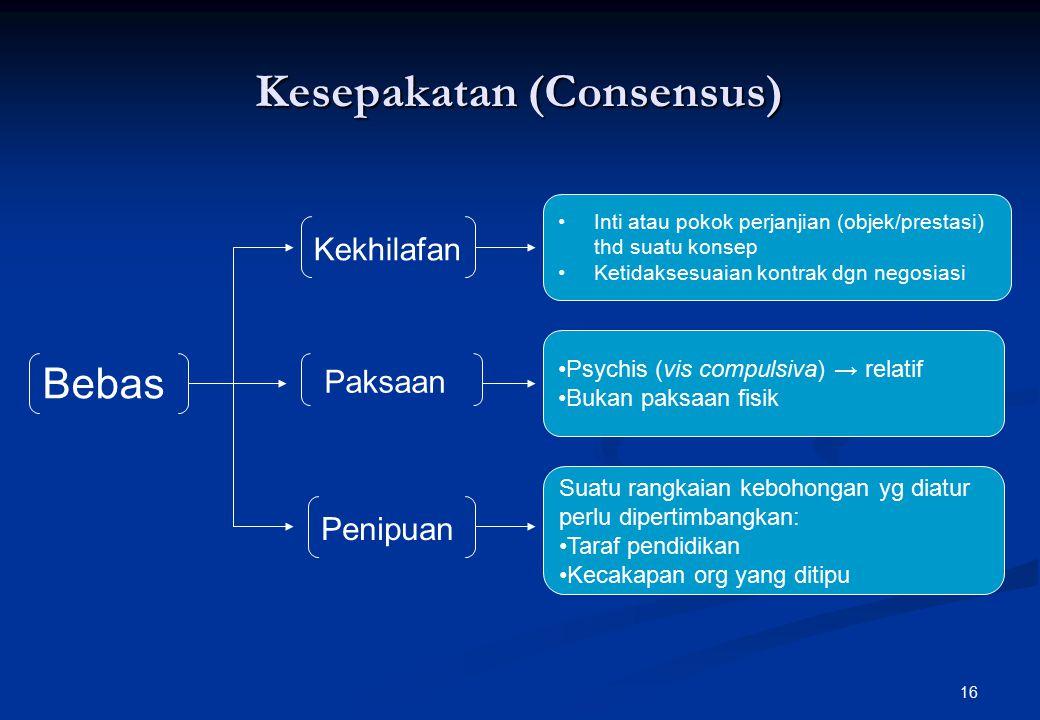 Kesepakatan (Consensus)