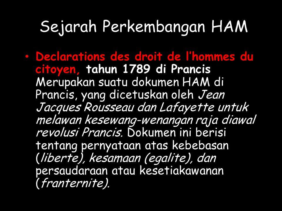 Sejarah Perkembangan HAM