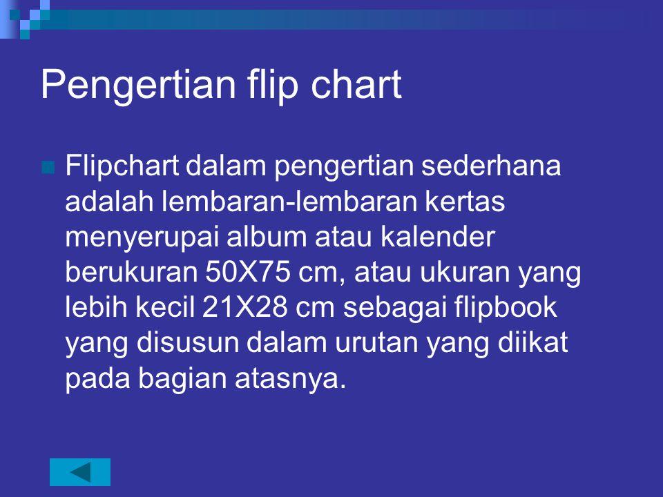 Pengertian flip chart