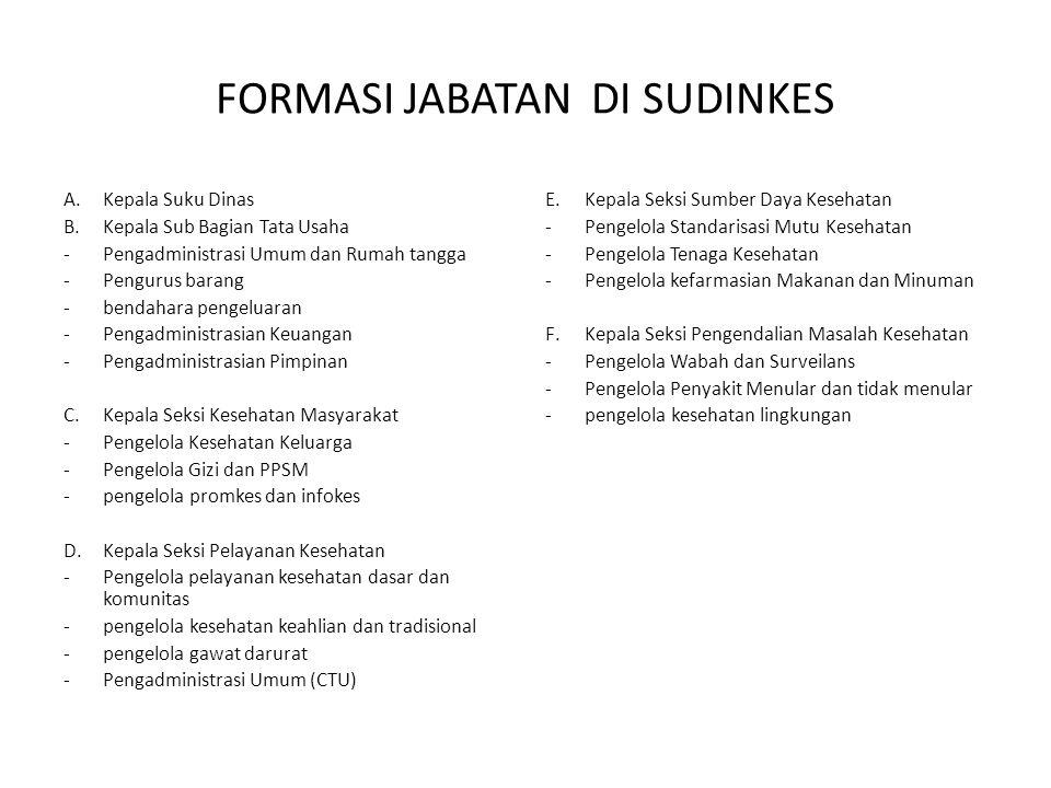 FORMASI JABATAN DI SUDINKES