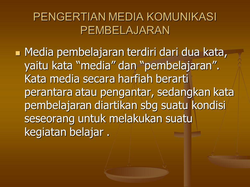 PENGERTIAN MEDIA KOMUNIKASI PEMBELAJARAN