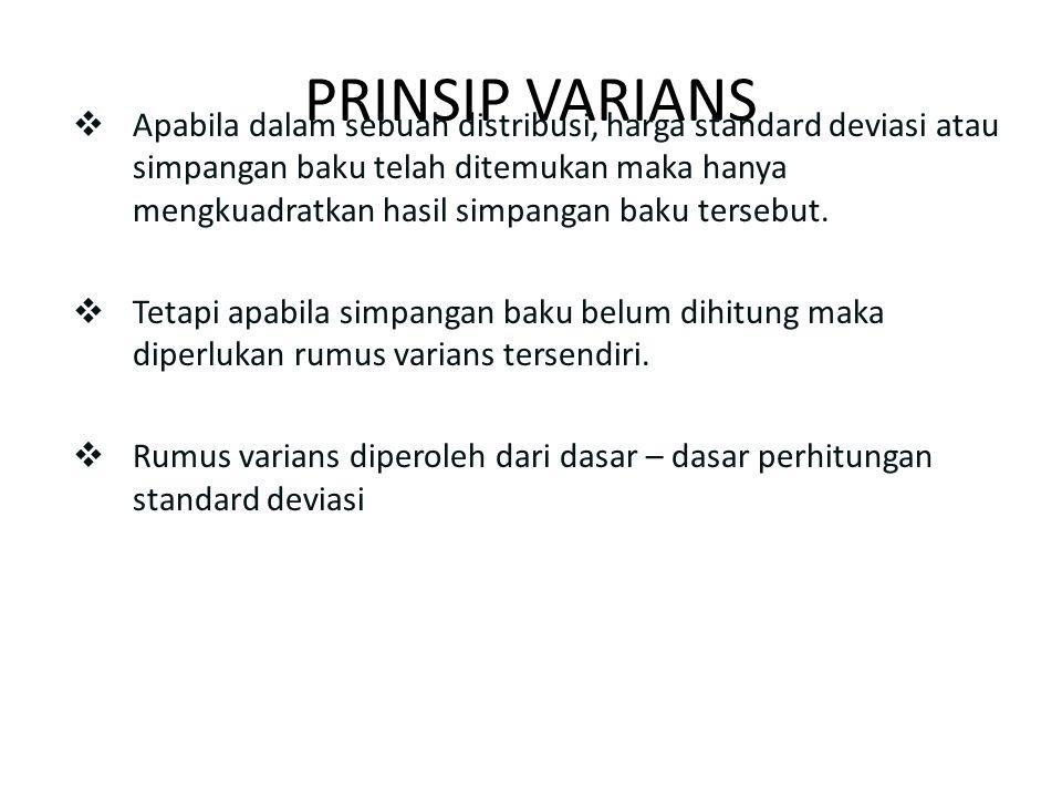 PRINSIP VARIANS