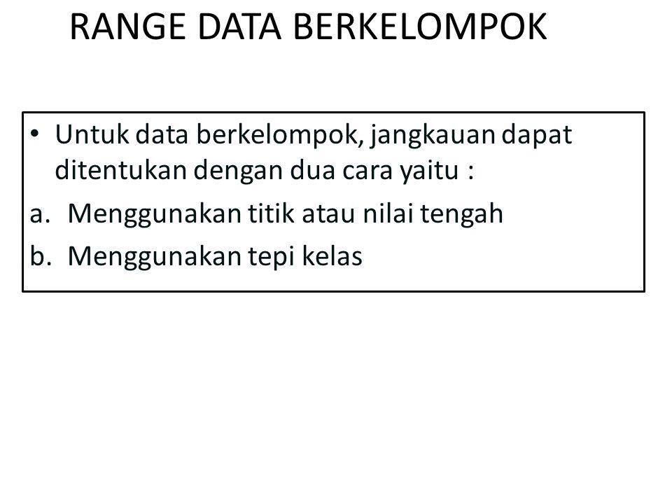 RANGE DATA BERKELOMPOK