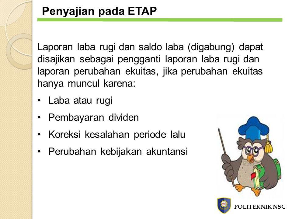 Penyajian pada ETAP