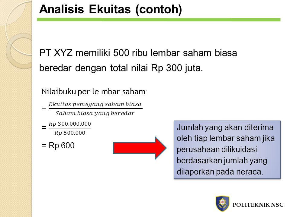 Analisis Ekuitas (contoh)