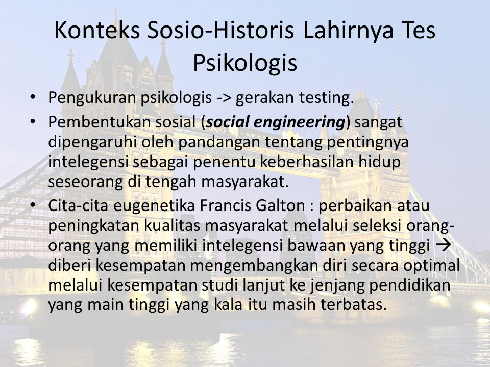 Konteks Sosio-Historis Lahirnya Tes Psikologis