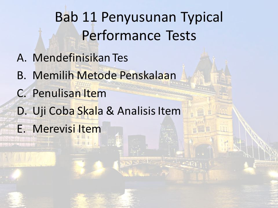 Bab 11 Penyusunan Typical Performance Tests