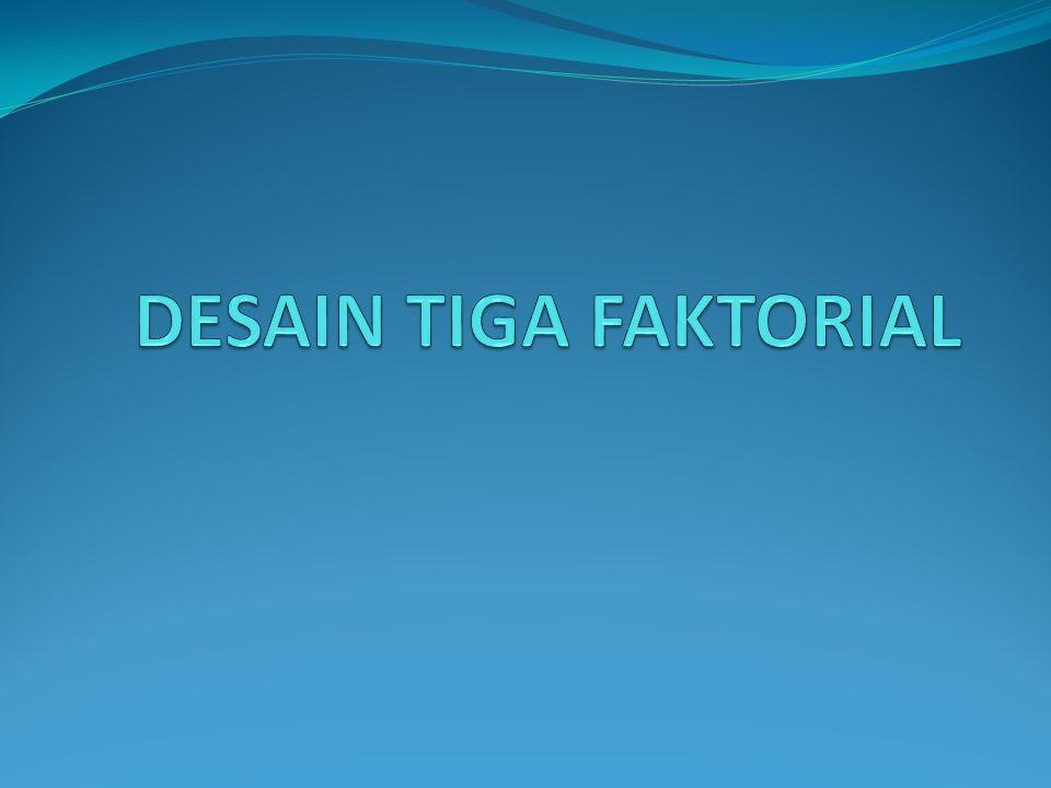 DESAIN TIGA FAKTORIAL