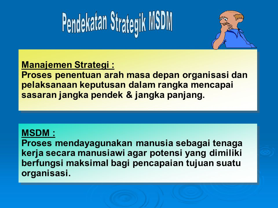 Pendekatan Strategik MSDM