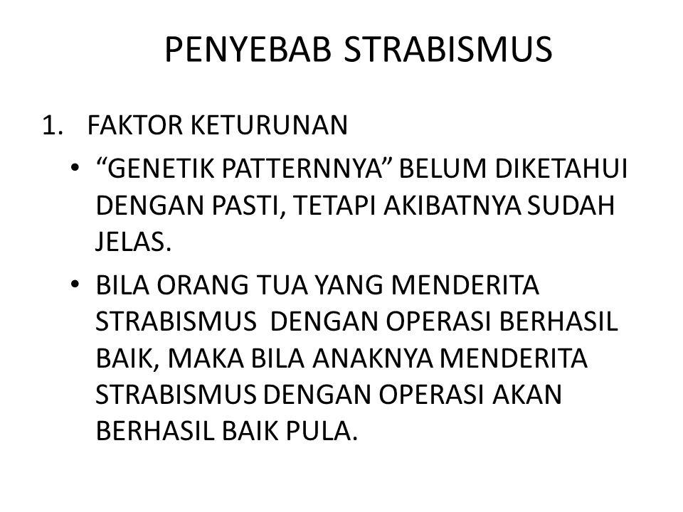 PENYEBAB STRABISMUS FAKTOR KETURUNAN
