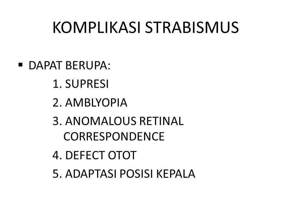 KOMPLIKASI STRABISMUS