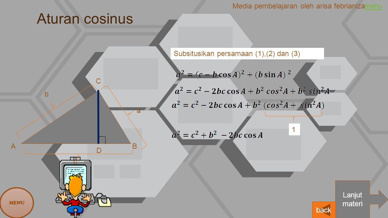 Aturan cosinus Media pembelajaran oleh arisa febrianiza menu