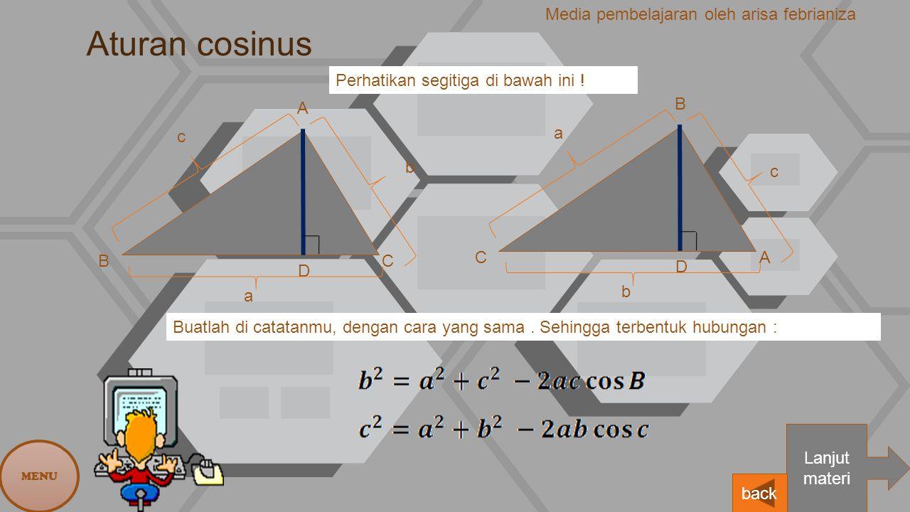 Aturan cosinus Media pembelajaran oleh arisa febrianiza