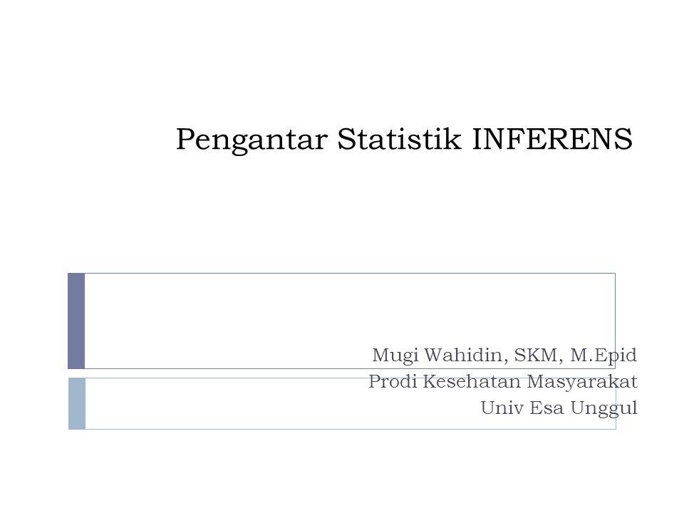 Pengantar Statistik INFERENS