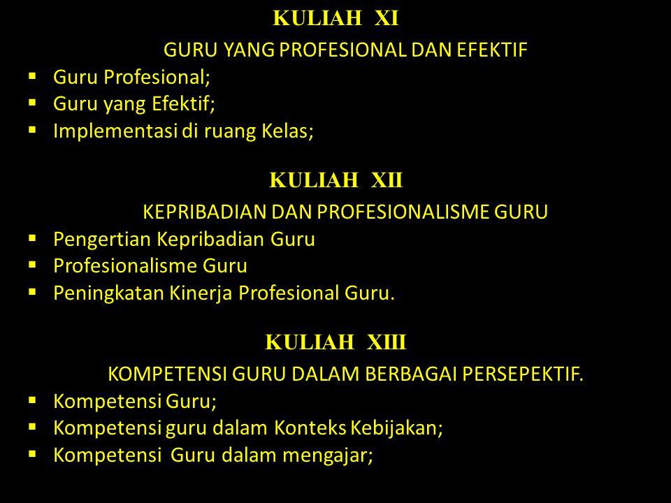 KULIAH XI KULIAH XII KULIAH XIII