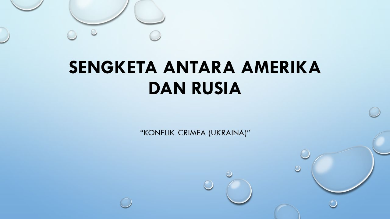 Sengketa antara Amerika dan Rusia