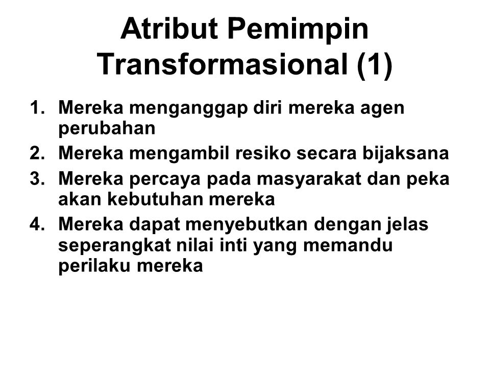 Atribut Pemimpin Transformasional (1)