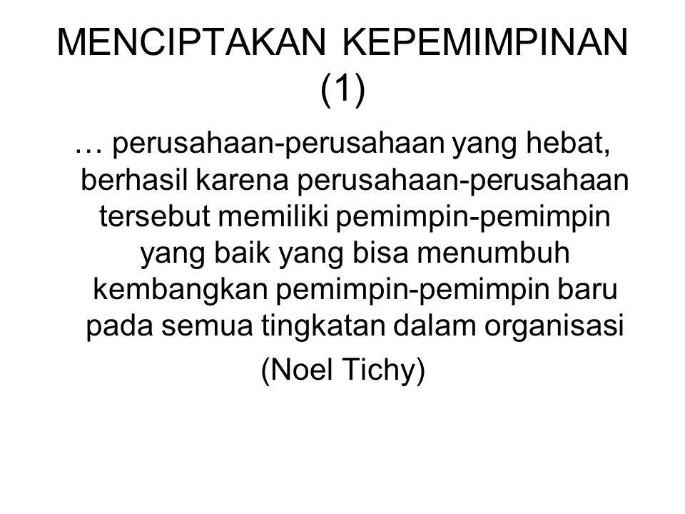 MENCIPTAKAN KEPEMIMPINAN (1)