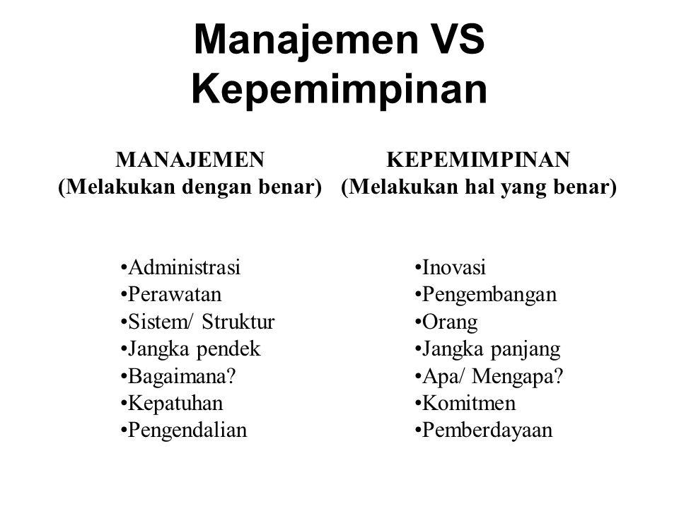Manajemen VS Kepemimpinan