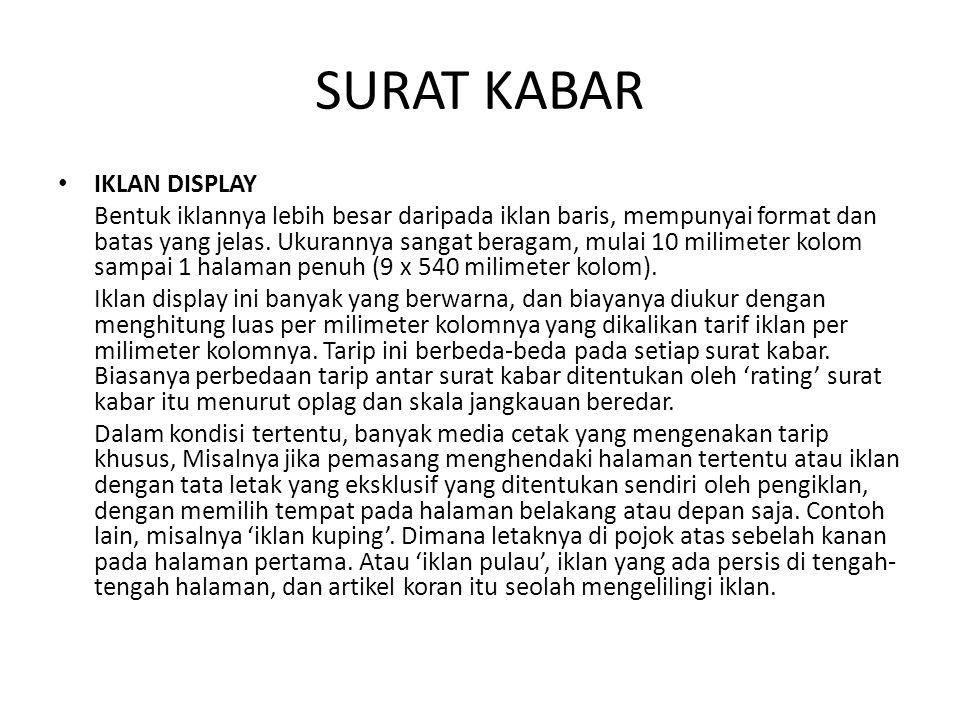 SURAT KABAR IKLAN DISPLAY