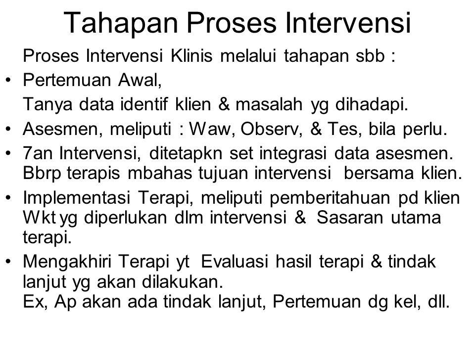 Tahapan Proses Intervensi